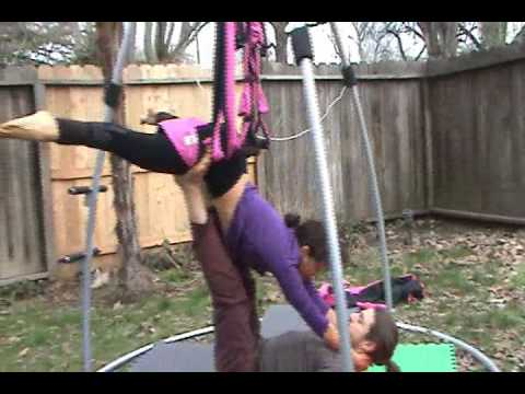 Acro Yoga Swing Maneuvers using Omni-Gym Thigh Pads