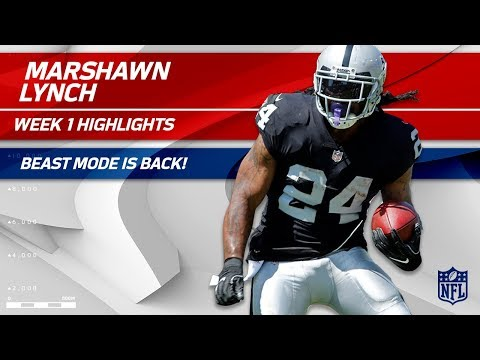 Beast Mode in Oakland: Marshawn Lynch's Debut! | Raiders vs. Titans | NFL Wk 1 Player Highlights