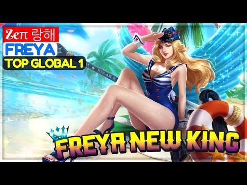 Freya New King [ Top Global 1 Freya ] Zeπ 랑해 Freya Gameplay And Build