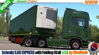 "[""Euro Truck Simulator 2"", ""mods"", ""trailer mod"", ""Schmitz S.KO EXPRESS with Folding Wall"", ""by Obelihnio""]"