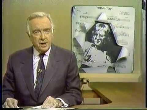 John Lennon Death 12/09/80 CBS Evening News w/ Walter ...  John Lennon Dea...