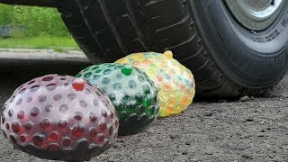 Experiment Car vs Balloons, Cola, Mirinda vs Mentos Crushing Crunchy & Soft Things by Car MaxEddykin