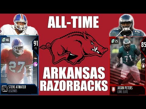 All-Time Arkansas Razorbacks Team - Steve Atwater and Jason Peters! - Madden 18 Ultimate Team