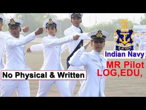 भारतीय नौसेना MR Pilot Entry सुनहरा मौका Direct Officer Indian Navy Job Eligibility Criteria 2019