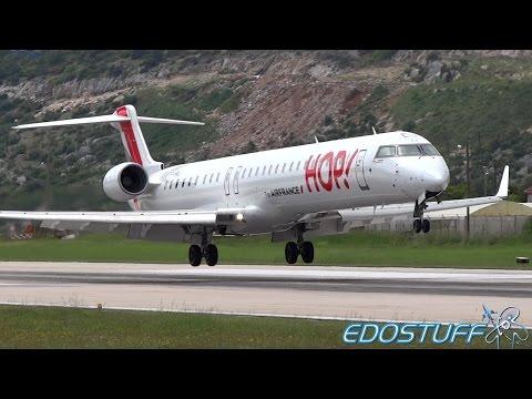 HOP! - Bombardier Regional Jet CRJ-1000 NextGen ER F-HMLJ - Landing at Split airport SPU/LDSP