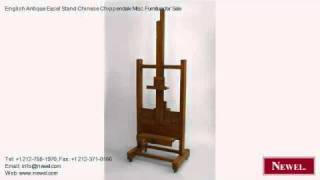 English Antique Easel Stand Chinese Chippendale Misc. Furnit