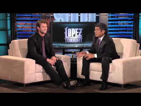 Chris Hemsworth at Lopez Tonight