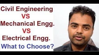 Civil Vs Mechanical Vs Electrical Engineering: Private Job, Govt Job in Diploma, B.Tech India Hindi