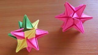 Как Сделать Елочные Игрушки Своими Руками. Звезда из Бумаги (ч. 2)(Показываю и рассказываю, как сделать простые елочные игрушки из бумаги. Складывается новогодняя звезда..., 2014-10-07T17:20:53.000Z)