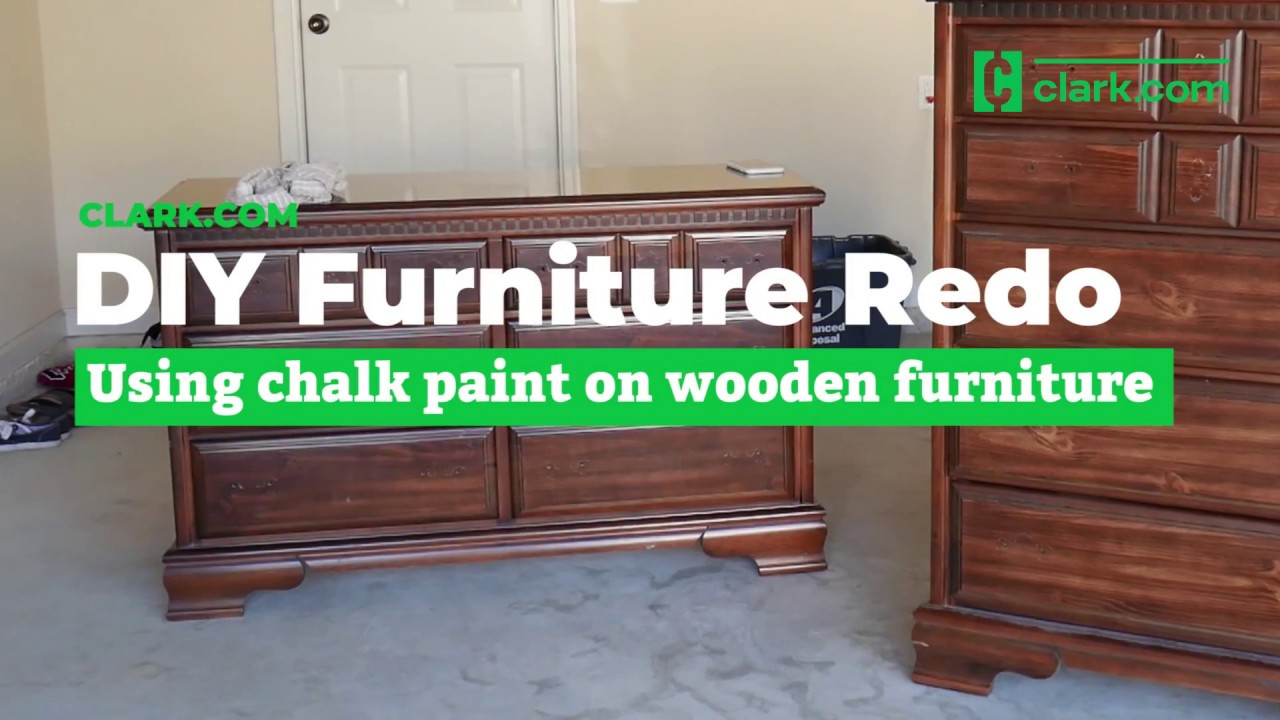 How To Chalk Paint Wooden Furniture For A New Look Youtube