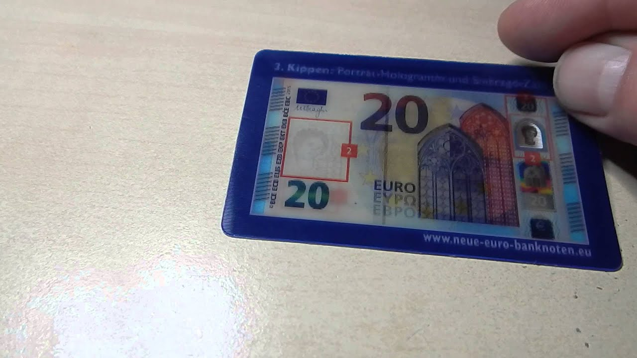 Sicherheitsmerkmale 20 Euro Der Europa Serie Youtube