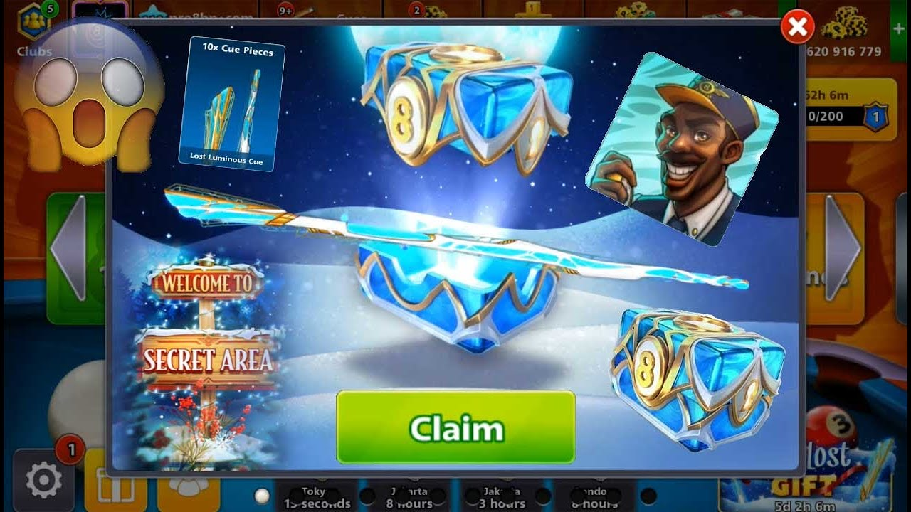 8 ball pool The Lost Gift 🤯 Free Cue And Upgrades
