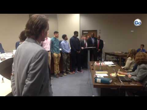 Spartanburg Day School Griffins Basketball Team 2016-17 championship recognition