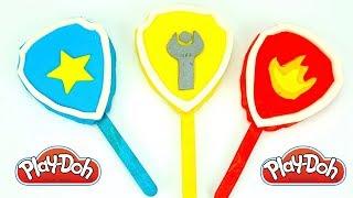 Щенячий Патруль пластилин плей до, лепим мороженое из пластилина с логотипами героев мультика