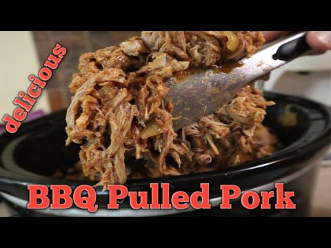 Best BBQ Pulled Pork Recipe -  EASY Crock Pot - Set And Forget It