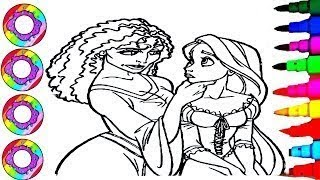 Coloriage Dessiner La Princesse Disney Raiponce - Colouring Drawings Disney Tangled Rapunzel
