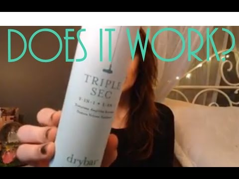 DRY BAR TRIPLE SEC REVIEW | does it actually work?