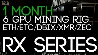 1 MONTH, 6 GPU Mining Rig PROFITS (ETH/ETC/DBIX/XMR/ZEC)