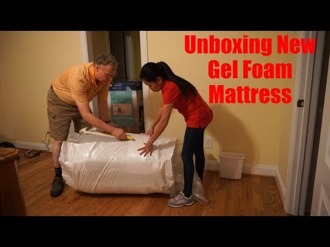 Costco 14 Inch Queen Memory Gel Foam Mattress Unboxing - Filipina American Life In America