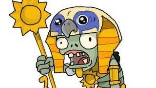 How to draw Ra from Plants vs. Zombies 2