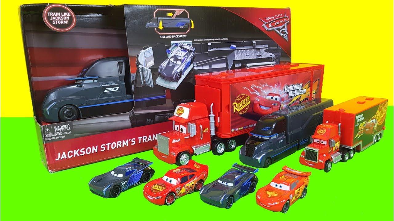 Cars 3 Tomica Lightning Mcqueen Transforming Mack Truck Jackson