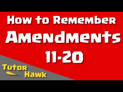 How to Remember Amendments 1120