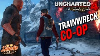 Uncharted 4 Survival Co-Op | Train Wreck Full STAGE (Hard)