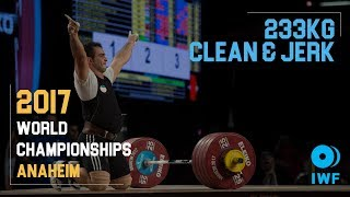 Sohrab Moradi | 233kg Clean & Jerk