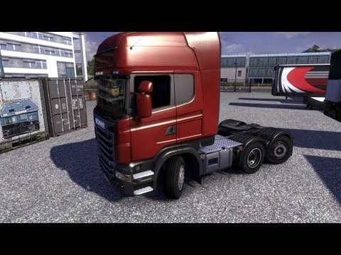 Euro Truck Simulator 2 - Driving the Scania Steerable Tag Axle |