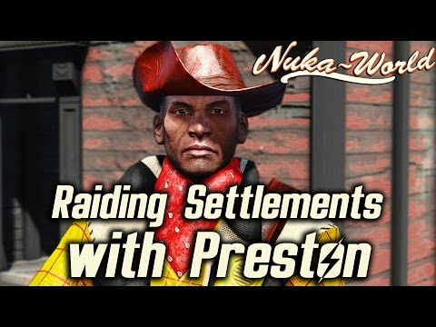 Fallout 4 Nuka-World DLC - Raiding Settlements with Preston & His Reaction
