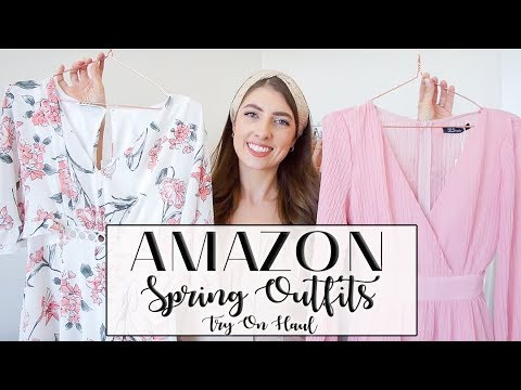 AMAZON SPRING OUTFITS HAUL + TRY ON // So pretty! // Lauren Dumonceau