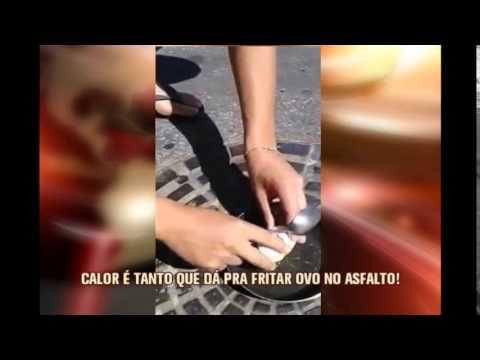 Calor vira piada em Valadares e internauta posta vídeo fritando ovo no asfalto