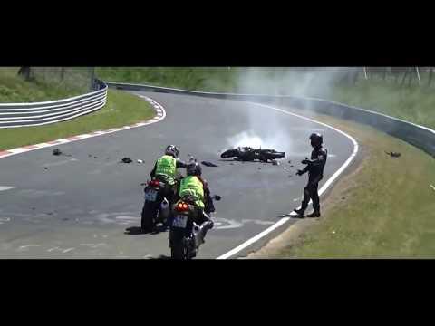 İNANILMAZ Pist Kazaları Araba Motosiklet