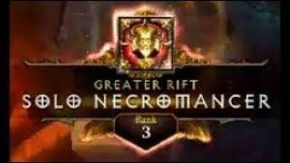 Diablo 3 | GR126 Solo Necromancer | Rank 3 WORLD (Pestilence)