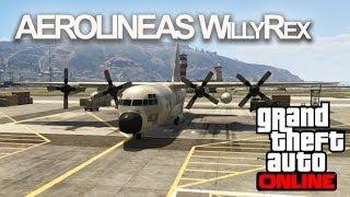 AEROLINEAS WILLYREX!! GTA Online con Willyrex y Vegetta - [LuzuGames]