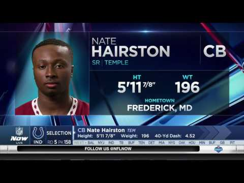Indianapolis Colts Draft Temple CB Nate Hairston - 158th 2017 NFL Draft