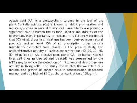 Anti Proliferative Effect of Asiatic Acid on Hep G2 Cell Line Genes Review 12 37 44