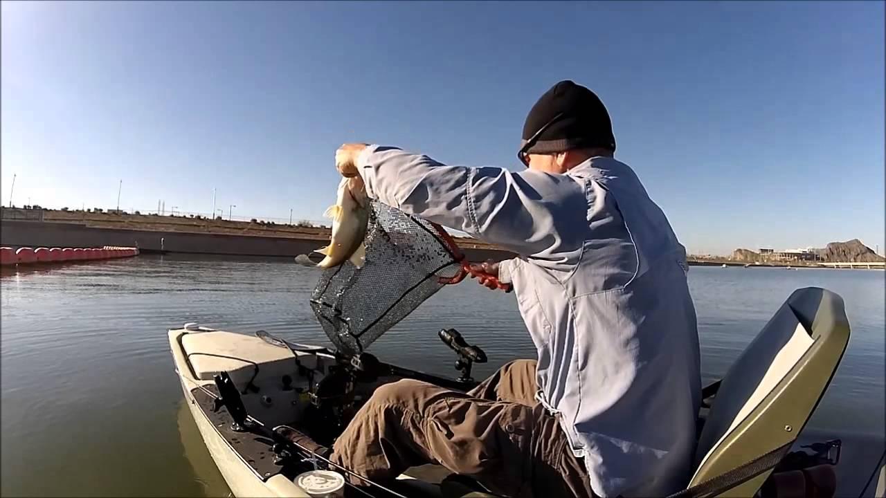Kayak bass fishing tempe town lake youtube for Tempe town lake fishing