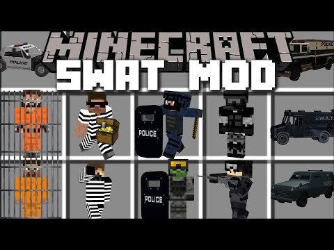 Minecraft SWAT MOD / BECOME A SWAT POLICE OFFICER AND PROTECT THE BANK!! Minecraft
