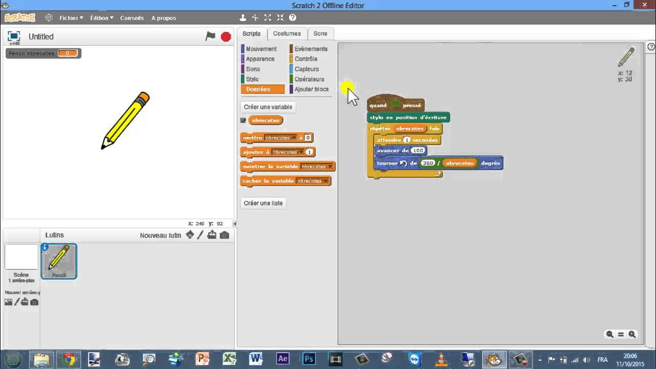 Scratch programmation pour les d butants comment faire for Programme dessin maison