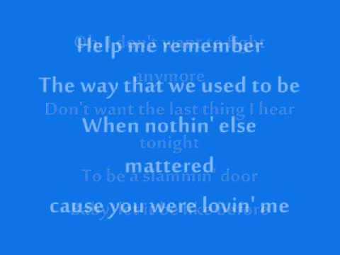 Help Me Remember-Rascal Flatts lyrics