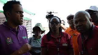 Naibu waziri wa kilimo Mh. Hussein Bashe, atembelea banda la PASS katika maonyesho ya 88 - Simiyu
