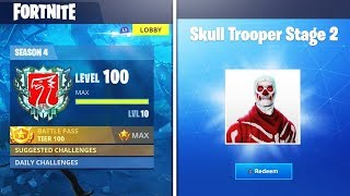 LEVEL 100 Fortnite SEASON 4 REWARDS! WHAT HAPPENS? World's First Max Level in Fortnite Battle Royale