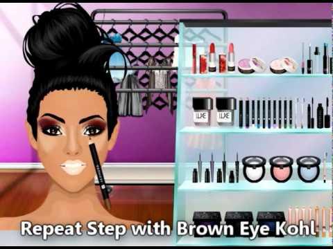 Stardoll Kim Kardashian & Hayley Williams Inspired Make-up #111
