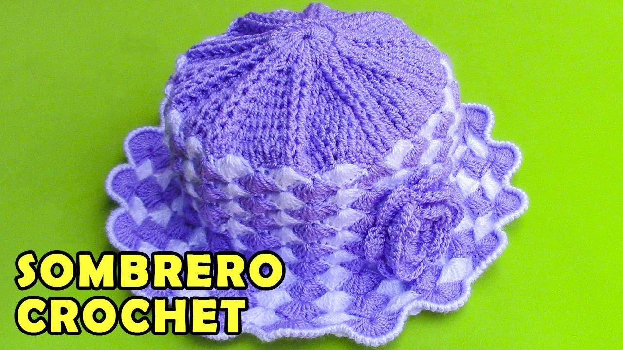 0080069421ec1 Sombrero tejido a crochet para bebé de 1 y 2 años paso a paso en punto  abanicos