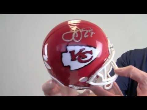 Larry Johnson Autographed Mini Helmet - JSA