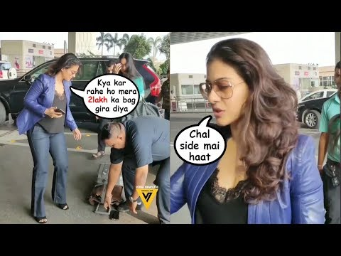 Kajol shows Unbelievable TANTRUMS In Front of Daughter Nysa At The Airport
