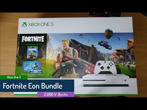 Xbox One S Fortnite Eon Bundle 2 000 V Bucks Unboxing And