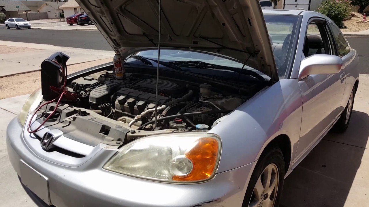 2003 Honda Civic How To Check A Bad Catalytic Converter Part 1