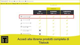 Accedi alla libreria prodotti completa di Tilelook